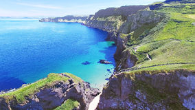 Carrick-a-Rede Rope Bridge County Antrim Northern Ireland Royalty Free Stock Photography