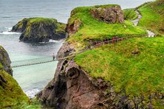 Carrick a Rede Rope Bridge royalty free stock image