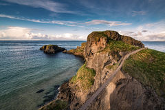 Carrick-a-rede rope bridge. Famous place in Northern Ireland stock images