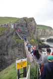 Carrick-a-Rede Rope Bridge, Ireland Royalty Free Stock Image