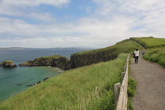 Carrick-a-Rede Rope Bridge, Ireland Stock Images