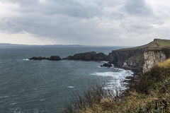 Carrick-a-Rede Rope Bridge in Northern Ireland Stock Photography