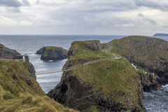 Carrick-a-Rede Rope Bridge in Northern Ireland Royalty Free Stock Photography