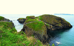 Carrick-a-rede rope bridge (Northern Ireland) Royalty Free Stock Image