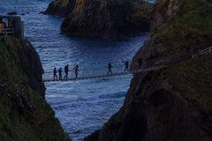 Carrick-a-Rede Rope Bridge, Northern Irelnd, Europe stock photography