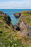 Carrick-a-Rede Rope Bridge Royalty Free Stock Photos