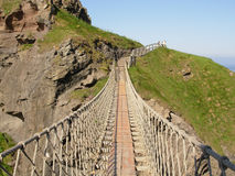 Carrick-a-Rede Seil-Brücke Stockfotos