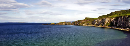 Carrick un Rede, côte de pont de corde, Irlande du Nord Photos libres de droits