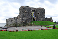 Carrickfergus Castle. A castle with Norman architecture located in Northern Ireland Stock Photography
