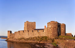 Carrickfergus Castle. Medieval Norman Castle in Carrickfergus, Northern Ireland Royalty Free Stock Image