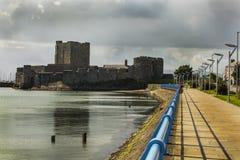 Carrickfergus castle. On the North Ireland coast Royalty Free Stock Photos