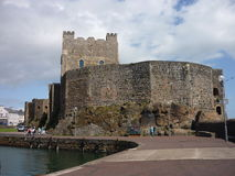 Carrickfergus castle. A tourist attraction in Carrickfergus, co. Antrim, Northern Ireland royalty free stock photography