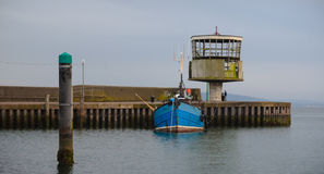 Carrickfergus Hafen-Radarstation Stockfotos
