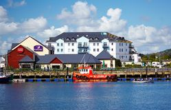 Carrickfergus. NORTHERN IRELAND - MAY 10, 2009: Town  on the northern shore of Belfast Lough Royalty Free Stock Images