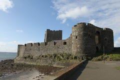 Carrickfergus slott Fotografering för Bildbyråer