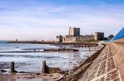 Carrickferguskasteel, Noord-Ierland Stock Foto's