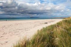 Carrickfinn sandig strand, Irland fotografering för bildbyråer