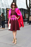 Carrie colbert Milano,milan fashion week streetstyle  autumn winter 2015 2016 Stock Photos