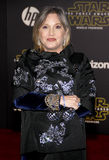 Carrie Fisher. HOLLYWOOD, CA - Carrie Fisher at the World premiere of 'Star Wars: The Force Awakens' held at the TCL Chinese Theatre in Hollywood, USA on royalty free stock photography