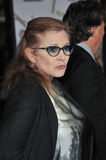 Carrie Fisher. LOS ANGELES, CA - NOVEMBER 3, 2014: Carrie Fisher at the premiere of Dumb and Dumber To at the Regency Village Theatre, Westwood Stock Image