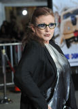 Carrie Fisher. LOS ANGELES, CA - NOVEMBER 3, 2014: Carrie Fisher at the premiere of Dumb and Dumber To at the Regency Village Theatre, Westwood Royalty Free Stock Image