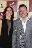 Carrie Preston, Michael Emerson stock afbeelding