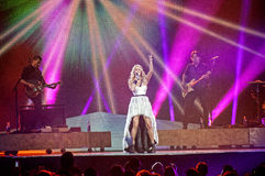 Carrie underwood στη συναυλία στοκ εικόνες