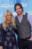 Carrie Underwood and Mike Fisher at the. Carrie Underwood and Mike Fisher  at the American Idol 2012 Finale, Nokia Theatre, Los Angeles, CA 05-23-12 Stock Images