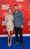 Carrie Underwood, Mike Fisher imagens de stock royalty free