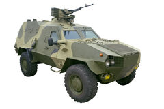 Carrier. New model of the police armored personnel carrier Royalty Free Stock Image