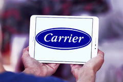 Carrier air conditioning , refrigeration , heating company logo. Logo of carrier air conditioning and refrigeration company on samsung tablet stock images