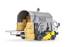 The carrier of cargo (mail) Stock Images