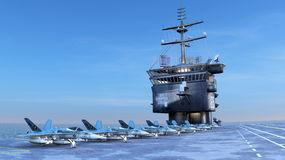 Carrier. Image of carrier and sea Royalty Free Stock Photo