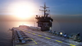 Carrier. Image of carrier and sea Royalty Free Stock Photos