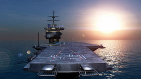 Carrier. Image of carrier and sea Royalty Free Stock Photography