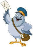 Carrier pigeon cartoon Royalty Free Stock Photography