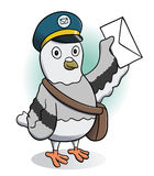 Carrier Pigeon Holding a Letter Royalty Free Stock Photos