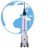 Carrier rocket Atlas Royalty Free Stock Image