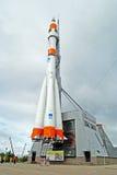Carrier rocket Soyuz in Samara royalty free stock photos