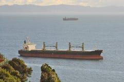 Carrier ship. Tanker in Gibraltar, Africa, Spain Stock Images