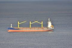 Carrier ship. Tanker in Gibraltar, Africa, Spain Stock Photo