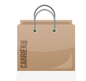 Carrier shopping bag illustration design Royalty Free Stock Photography