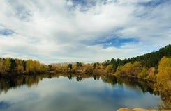 Carriera dello studente Autumn Panorama immagini stock libere da diritti