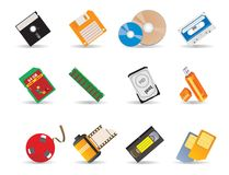 Carriers to information. Illustrations for you design Royalty Free Stock Photos