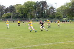 Carrignavar, Ireland, May 6th, 2017 - East Cork Under 21 B Gaelic Football Final: Glanmire v Glenville Stock Photo