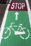 Carril 1 de la bici imagen de archivo libre de regalías