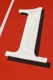 Carril 1 en una pista corriente Fotos de archivo libres de regalías