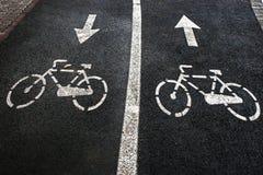 Carril 5 de la bici imagen de archivo