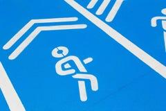 Carril azul, pista corriente o manera funcionada con Imagen de archivo