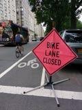Carril cerrado, NYC, los E.E.U.U. de la bici Fotos de archivo libres de regalías